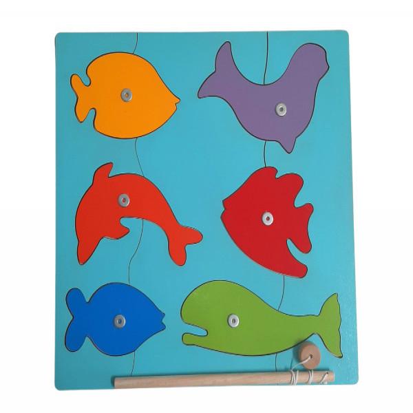 Rompecabeza pesca imantado  Multicolor