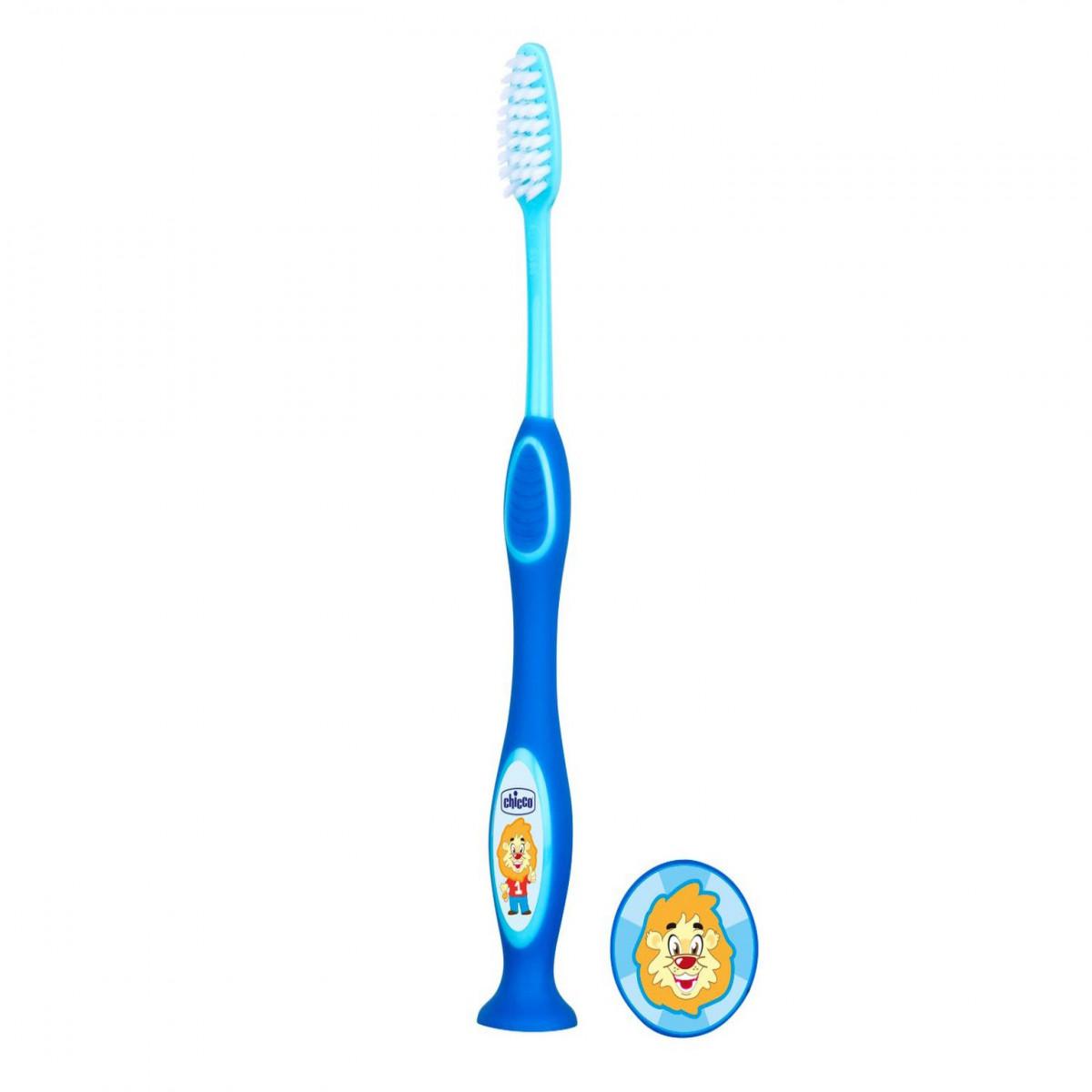 Cepillo de dientes 3-6 años Chicco celeste