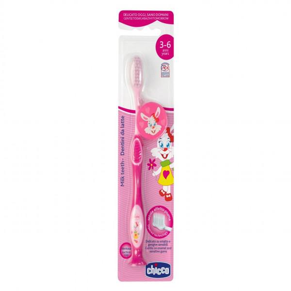 Cepillo de dientes 3-6 años Chicco Rosa