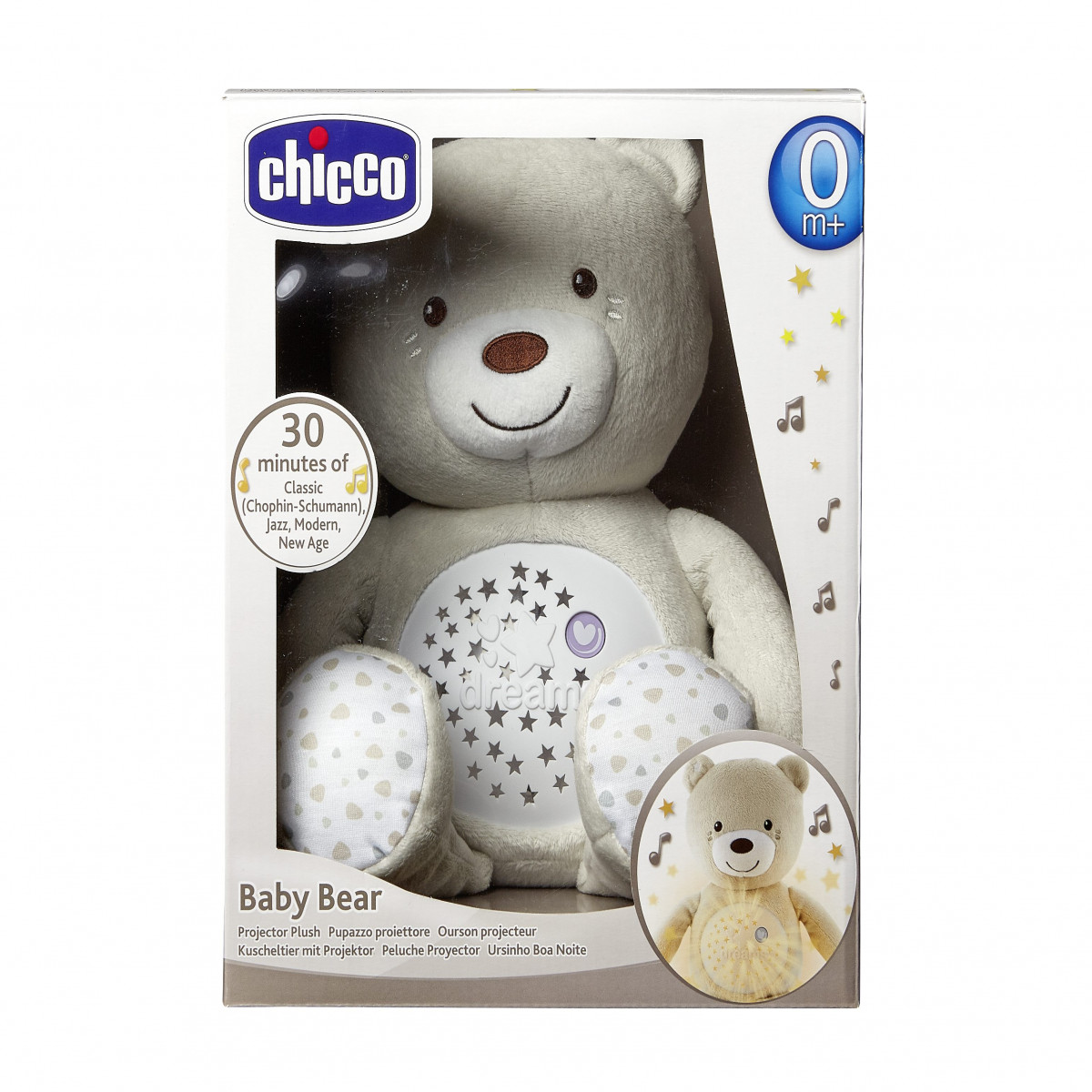 Osito Proyector Baby Bear  Chicco beige