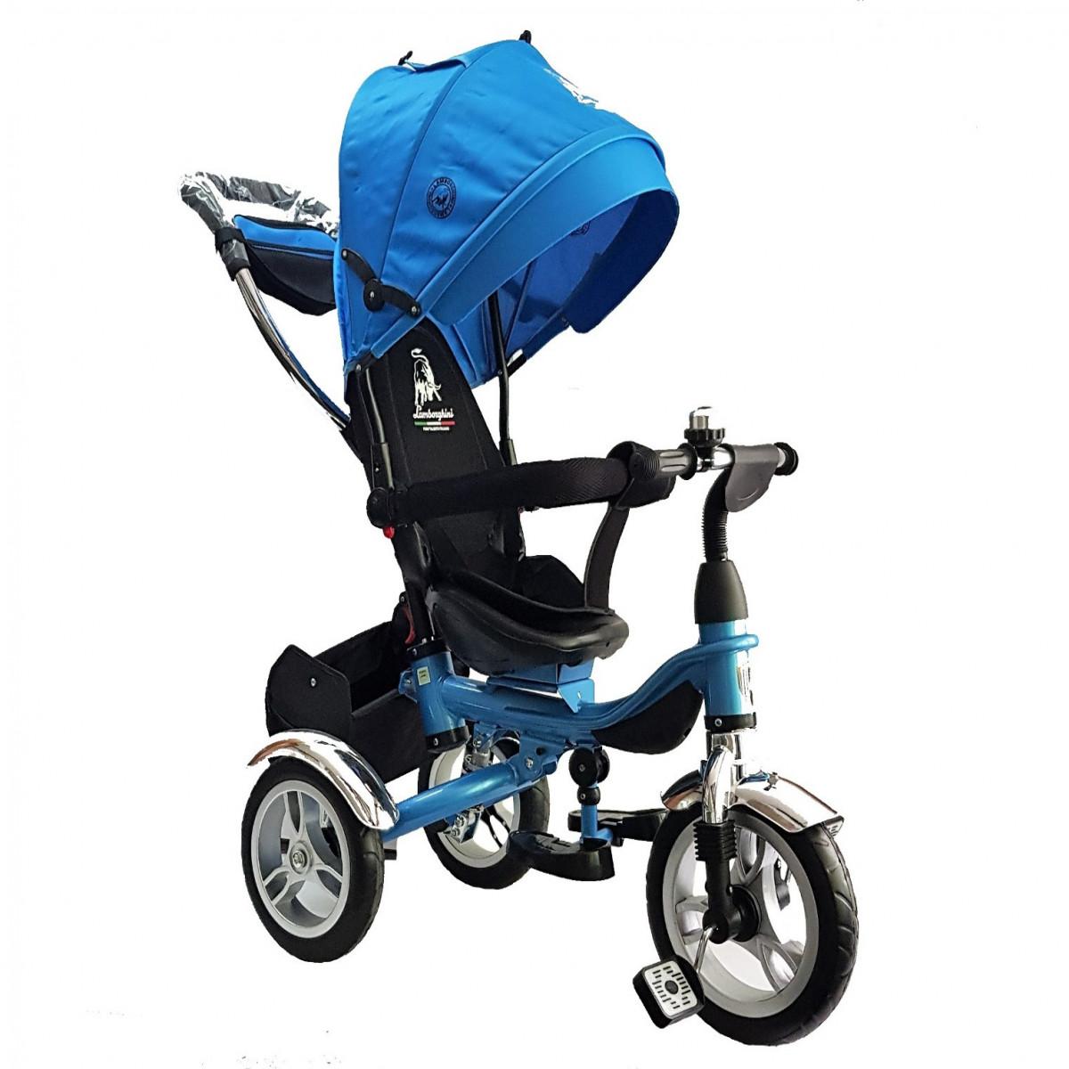 Triciclo 360 con capota Lamborghini azul