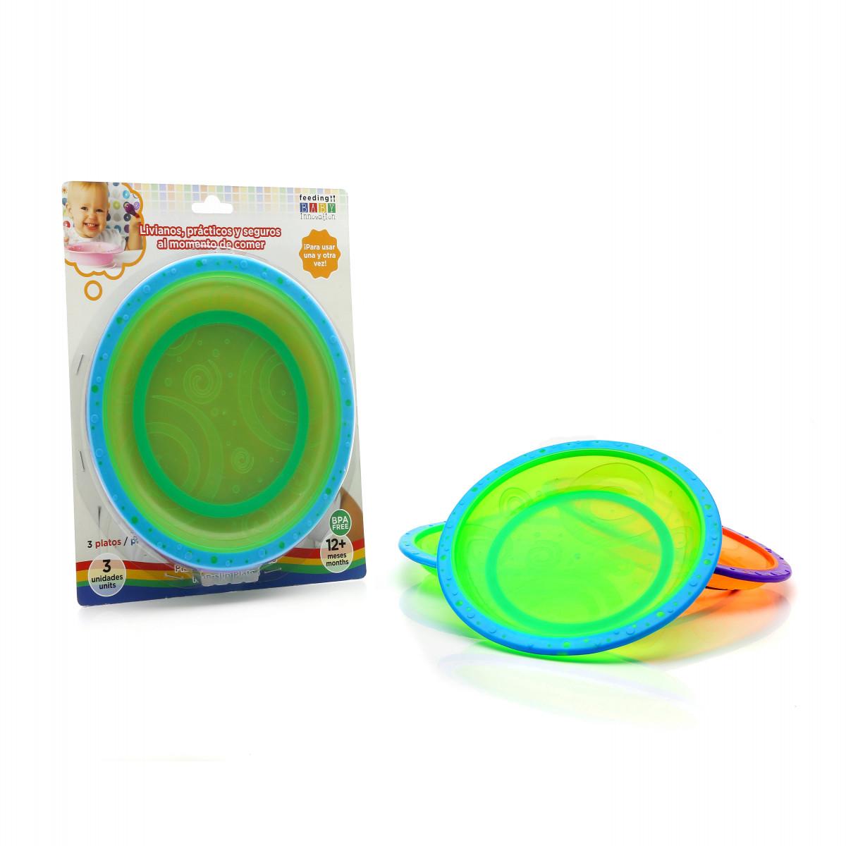 Set de platos con base antideslizante Baby Innovation