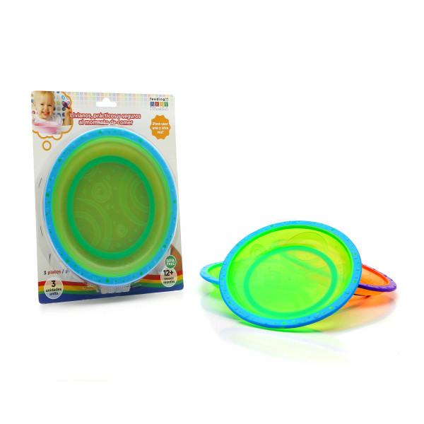 Set platos con base antideslizante Baby Innovation Multicolor