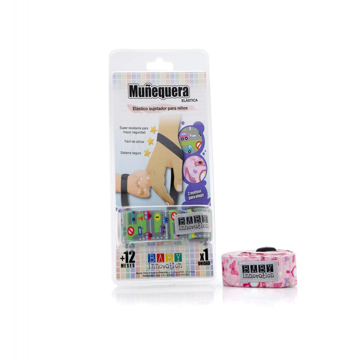 Muñequera elástica Baby Innovation rosa
