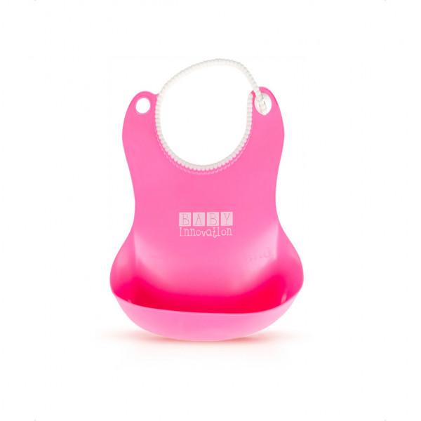 Babero de silicona Baby Innovation Rosa