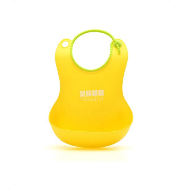 Babero de silicona Baby Innovation Amarillo