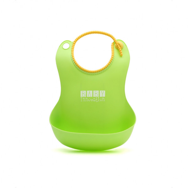 Babero de silicona Baby Innovation Verde