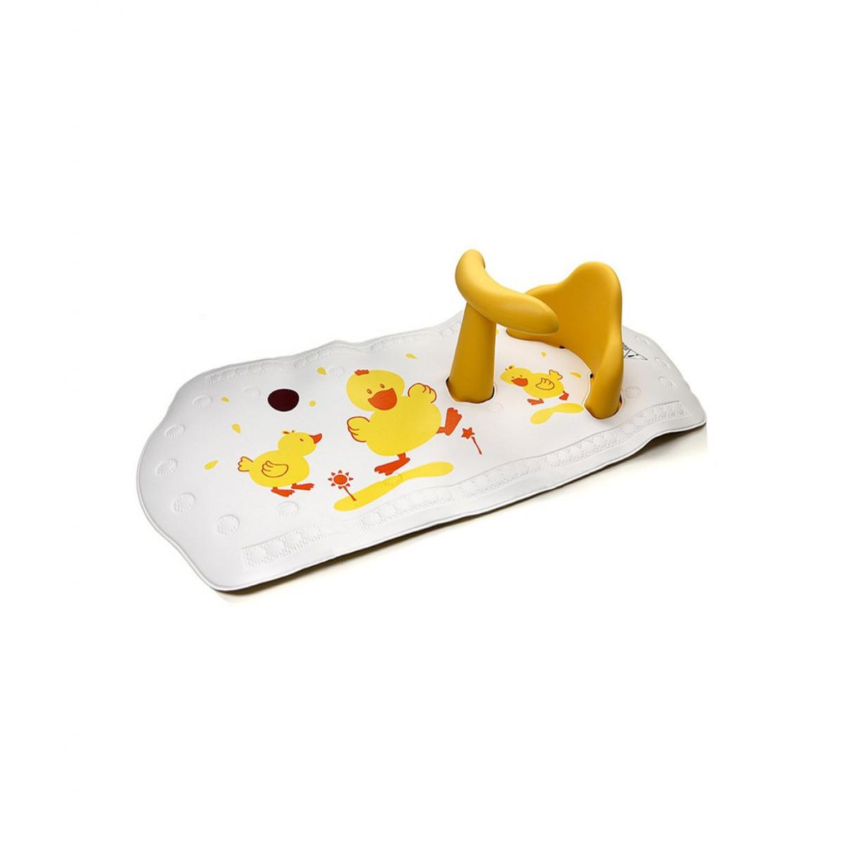 Asiento de baño + Alfombra Baby Innovation amarillo
