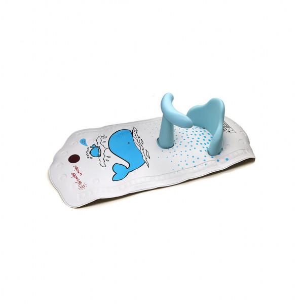 Asiento de baño + Alfombra Baby Innovation Celeste