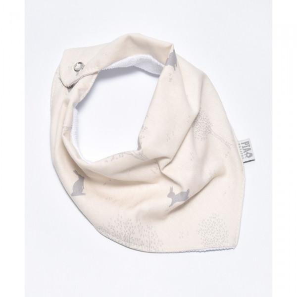 Babero bandana  Conejito gris