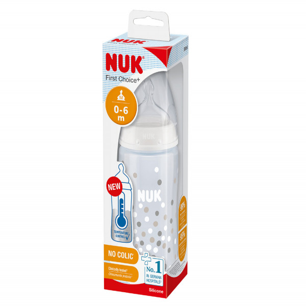 Mamadera control de temperatura 150 ml Nuk Unico
