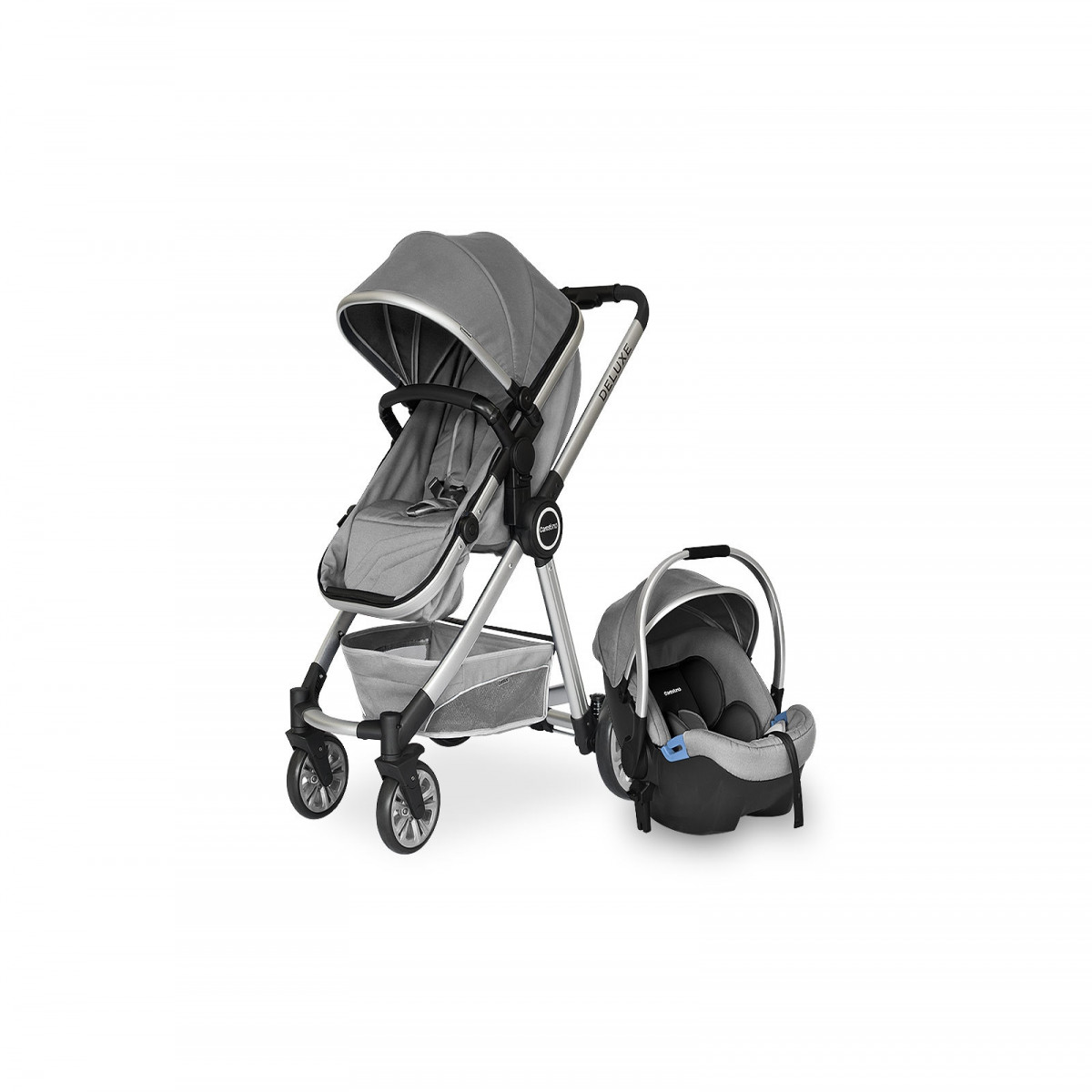 Coche Deluxe Travel System Carestino gris