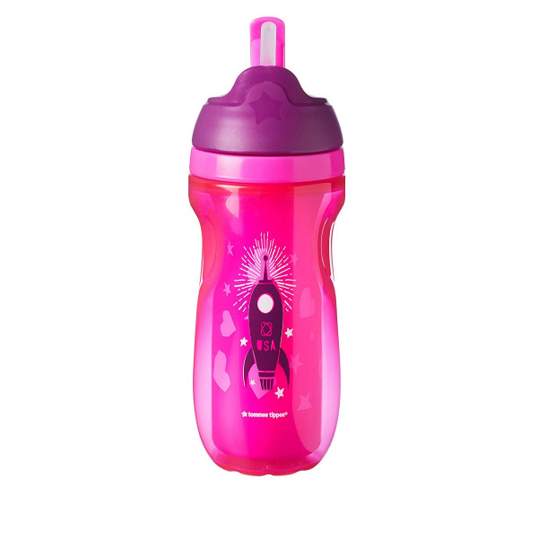 VASOS  STRAW CUP 260 ML Tommee Tippee Fucsia