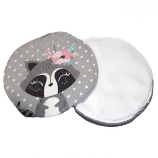 Protectores mamarios lavables Pequeñitos Baby Shop Mapache