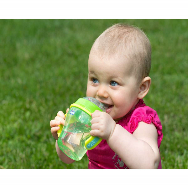 Vaso antiderrame Chicco verde