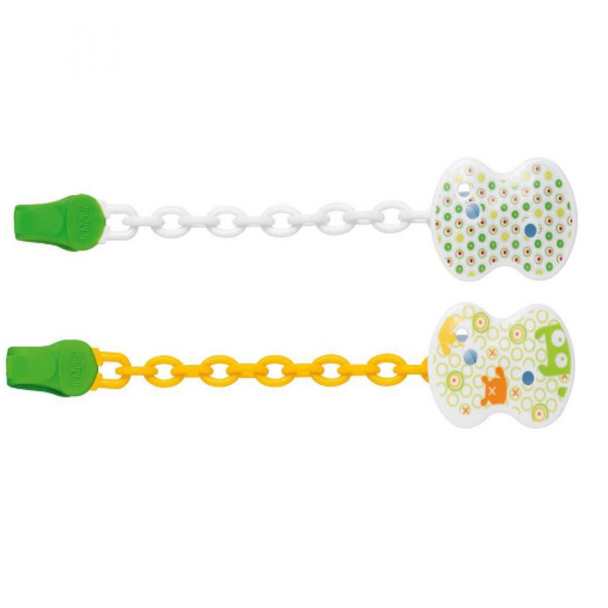 Clip con cadena  Chicco verde